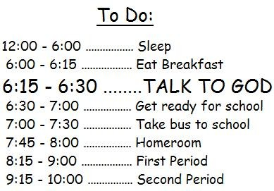 how to make a daily routine
